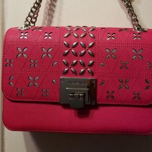 6d70498482b85e Michael Kors Bags - 2019 Michael Kors Pink Tina Medium Shoulder Bag